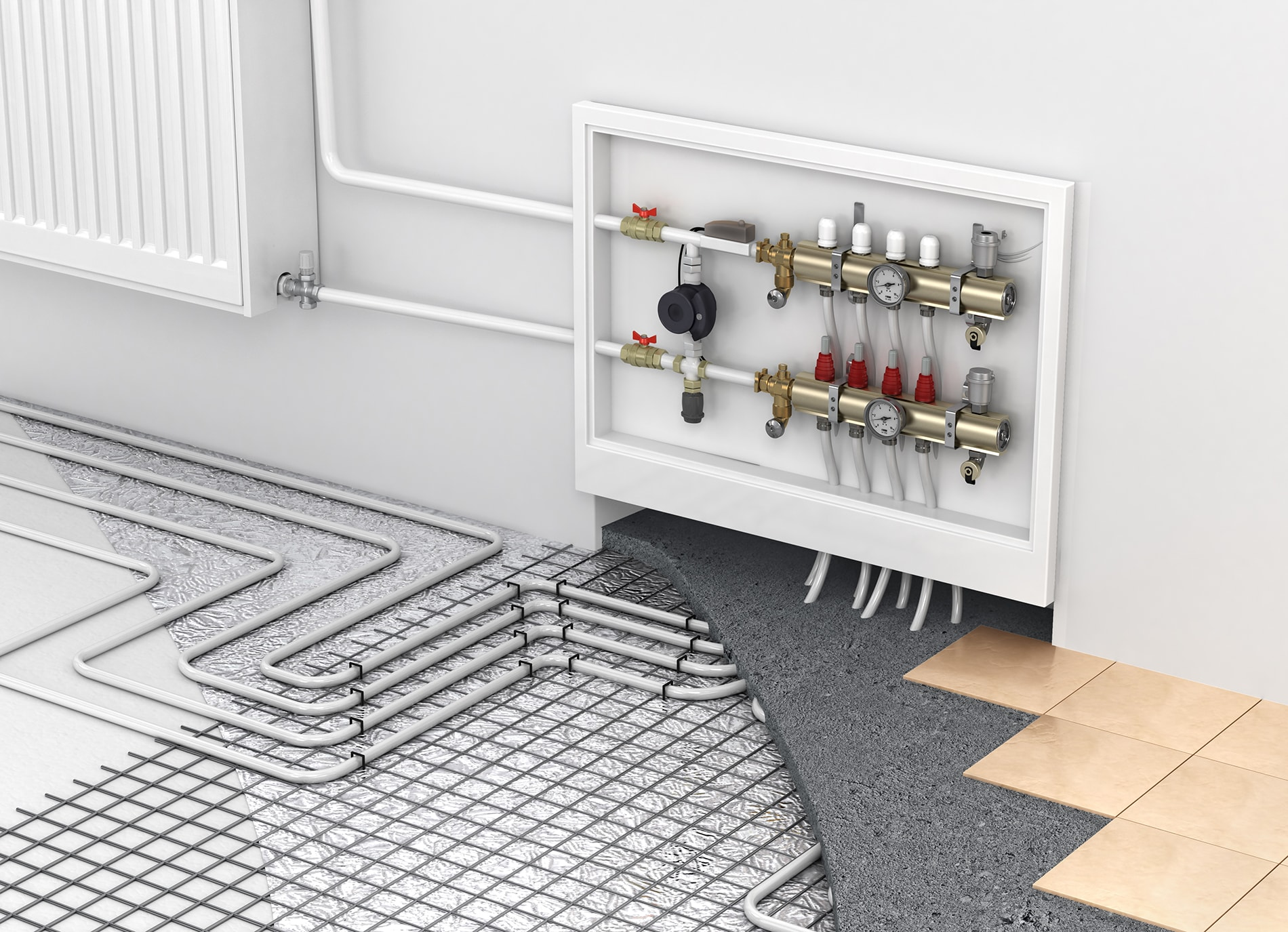 Radiant Heating Installed by Madsen Inc.